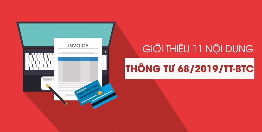 thong tu 68 2019 tt btc huong dan nghi dinh 119 2018 nd cp ve hoa don dien tu chuy thongtu68